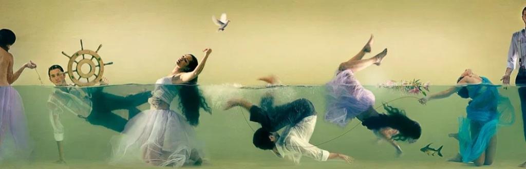 Lara Zankoul - Fotógrafa surrealista pessoas embaixo da agua